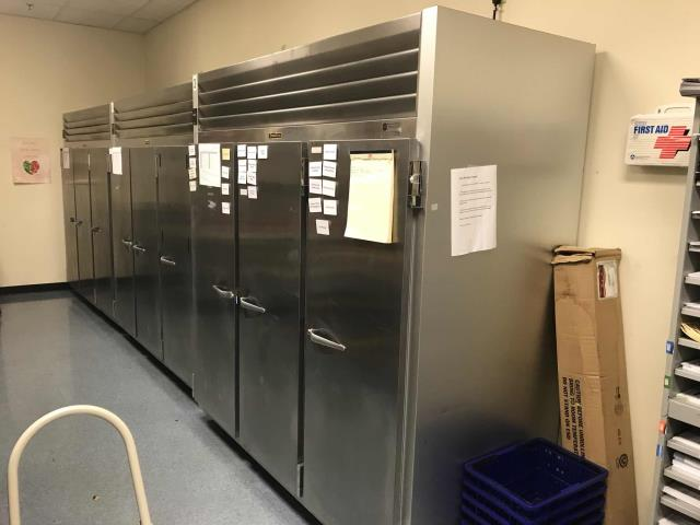 Sacramento, CA - Returned to complete quoted repair of Traulsen 3 door freezer for weight-loss center in North Sacramento. Compressor had been found defective. Replace compressor and drier then recharged system with R404a refrigerant. Tested system and found everything working nominally. Performed asset survey to update all freezer asset models and serial numbers in our database. Job complete.