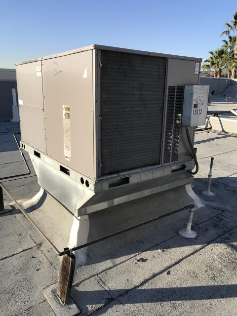Whittier, CA - PM Tech performed maintenance at Chiropractor's office at the Whittwood Town Center. No deficiencies were found on rooftop package ICP heat pump.