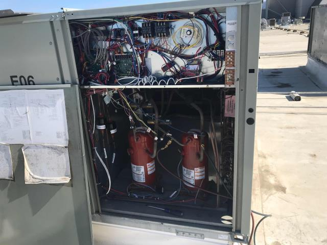 Salinas, CA - RESSAC A/C tech arrived at commercial retail store to inspect a Trane Package Unit. Technician got on the roof to repair communication loss of the unit with the thermostat. He found a wiring connection between Circuit one controlling the contactor had been switched to operate the stage 2 compressor. Tech fixed the wiring issue and called the HVAC controls company managing the unit to ensure proper unit communication. The unit was restored to proper operation.
