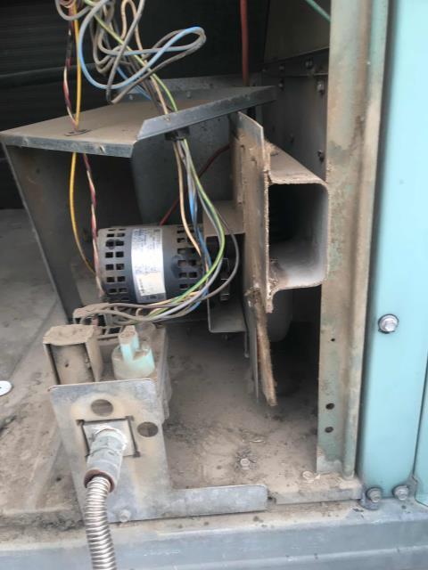 Fresno, CA - RESSAC HVAC technician arrived at check cashing place to repair a Carrier package unit that was not heating. Tech inspected the unit and found that the inducer draft motor had dried out bearings. The tech restored the motor function and checked the motor safeties and operations. The unit was restored back to a heating and working condition.