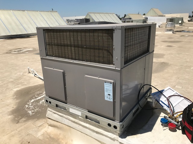 Visalia, CA - HVAC technician arrived at jewelry store in Visalia, California to perform maintenance on an ICP heat pump. He changed the unit's filters and inspected the rest of the unit. There were no other deficiencies found and the unit was fully operational.