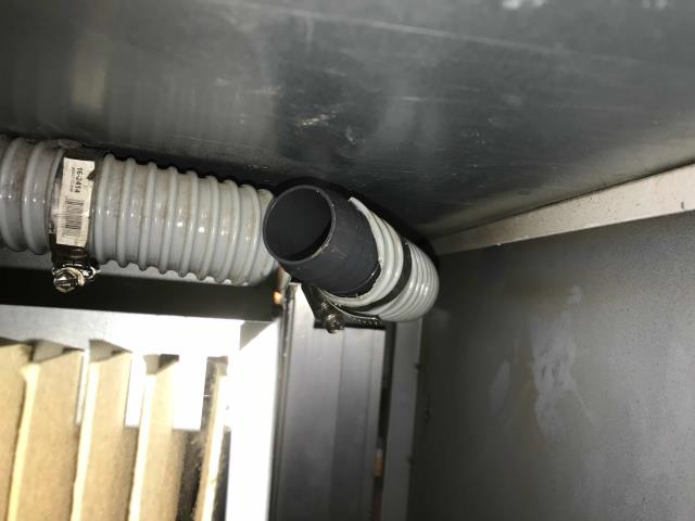 RESSAC refrigeration tech responded to a leaking grab and go dairy case in Wasco, California. After inspecting the Turbo Air cooler, found a crack in the drain line. New drain kit from the factory would need to be ordered. Was able to source a temporary replacement section locally and splice in a drain section to stop water leaking, for now. Reported back to office with findings, will quote to customer for special-order kit.