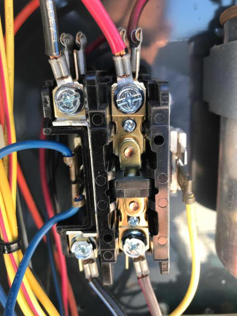 Los Angeles, CA - AC repair tech dispatched to complete approved repairs at a cell phone store in Panorama City, CA. Our technician replaced two weak motor capacitors on the #1 Trane unit, and a pitted contactor on the Trane split system. Tested all units, equipment running and site cool.