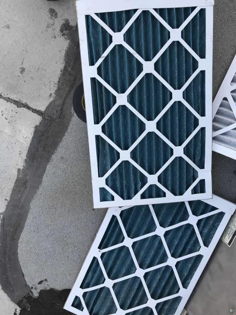 Los Angeles, CA - RESSAC technician dispatched for an ER request to install new HEPA filters in fire affected areas in North Hills, California. Removed the existing standard filters and replaced, unit working otherwise and higher grade filters fitting well.