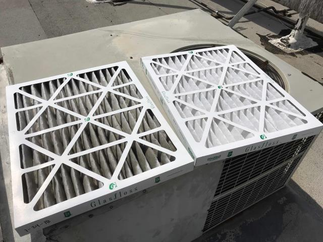 Mission Viejo, CA - Orange county maintenance tech arrived at a medical office to perform  the Spring maintenance. Filters were changed, amps checked and system tested. Unit running well.