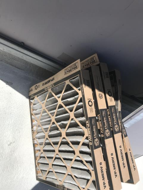 Santa Clarita, CA - Air conditioning maintenance scheduled for a dental office in Los Angeles county. Tech arrived and checked in with the site, changed filters and washed coils. No deficiencies found, site cooling.