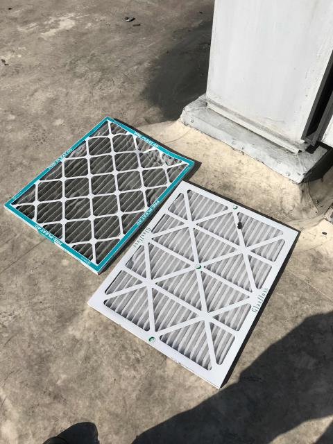 PM tech dispatched to a Laguna Niguel, CA, chiropractor's office to perform routine maintenance. Filters were changed on the single Carrier air conditioner, amps checked, no issues to report.
