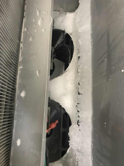 El Cajon, CA - Weekend emergency request received for a weight loss center in San Diego county. RESSAC refrigeration tech found the Traulsen freezer with ice forming around the evaporator fans. Cleared the ice, traced main issue to a defective cabinet sensor that was reading incorrectly. Had sensor in truck stock, replaced while onsite. Freezer dropping in temperature and working well again.