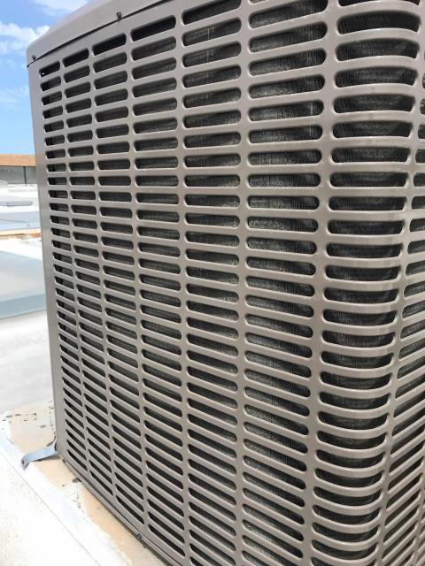 National City, CA - HVAC maintenance technician arrived at a makeup store in San Diego county to perform their spring maintenance. Filters and belts were changed, systems inspected. Coils were photographed for customer to quote for cleaning, no other issues found.