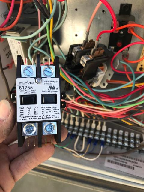 Murrieta, CA - Dispatched our Murrieta, CA, area technician to complete approved repairs at a family center. The Goodman air conditioner needed a noisy contactor and failed repeater replaced. The tech arrived and checked in first with the Pelican EMS support staff, confirmed signal strength for party room was poor. Was able to resolve after resetting the remote thermostat. Proceeded to complete the pre-approved repairs. Units back up and running.