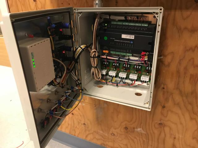 Salinas, CA - RESSAC technician responded to a call from a clothing retailer in the Northridge Mall in Salinas, CA. Tech needed to resolve a power usage issue between the lighting and the EMS system. He found that the emergency lighting override switch was in the ON position. Troubleshooted with T-Wave, found connections not communicating via the controller. Switching wiring from U17 to &18, cycled the emergency override to auto and restored communication. Will need to return to replace a faulty controller, but lighting issue should be resolved now.