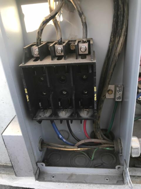 Fresno, CA - Dispatched a technician to an emergency request for a cash loan shop in Fresno, CA. Fire department had shut down the AC due to a burning smell. Checked on unit, turned back on at breaker. Tested all electrical, motors, belts and components. No residual smell of electrical burn, nor rubber burn from belts. Unit was operating normally, nothing damaged or shorted. No sign of burning smell from the AC, alerted site manager of status. Site will monitor smell issue, but currently HVAC is fine.