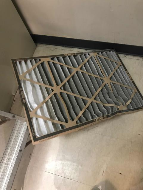 Santa Maria, CA - June preventative maintenance for a jewelry store's AC units. Technician changed out the filters, inspected components. No problems to report today.