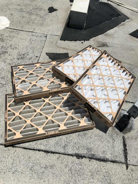 Local office building was scheduled for their May AC preventative maintenance. The technician swapped out filters, blew out condenser drains and checked over all components. No issues to report, site in good condition.