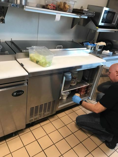 Fresno, CA - Bakery in Fresno, CA, reported that their prep table was freezing product even set at the correct temperature. The technician troubleshooted the unit, found the temperature controller had failed. Was able to source locally and replace. Adjusted set-points on new controller, prep table back in working order.