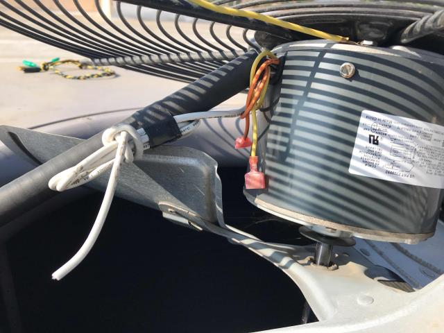 Camarillo, CA - An outlet shop in Camarillo, California, reported that their AC was not cooling and it felt like the heater was on. After investigating, our technician found that the condenser fan motor was not wired properly and was missing the common wire. Technician rewired the motor, also replaced the capacitor as it was not the correct part. Unit turned back on and site is comfortable again.