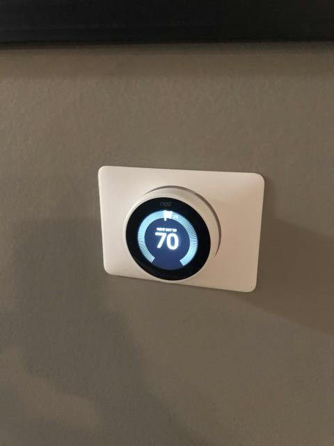 Glendale, CA - Scheduled repairs for a customer in Glendale, California, to install a new NEST thermostat. Removed old t-stat, installed a new plate and wired in NEST. Programmed and helped set up app for customer.