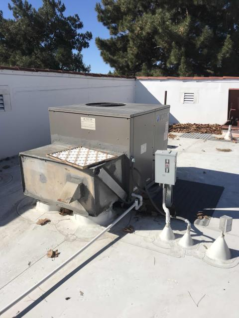 HVAC maintenance scheduled for our chiropractic customer in La Verne, California. Smaller site, with one 4 ton York AC. Tech swapped the filters and complete the visual inspection. AC running and customers comfortable onsite. Job complete.