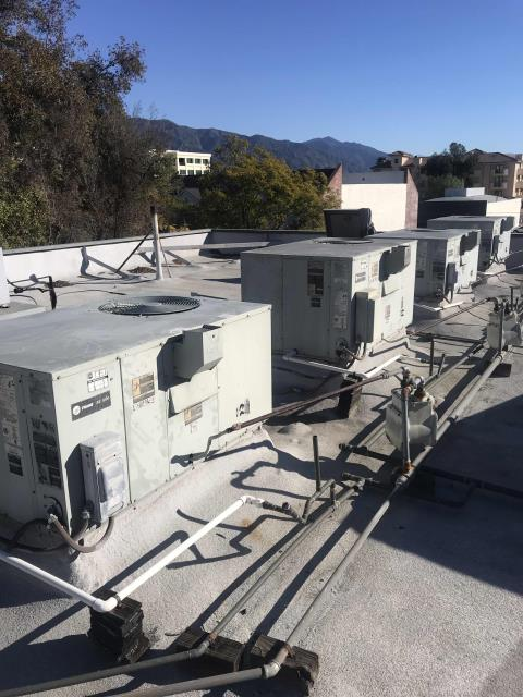 Pasadena, CA - Dispatched our Pasadena, California, repair team to a property manager's office for approved repairs. Three Trane AC's needed work: the inducer fan motor was replaced on #4, the igniters and ignition board swapped for new on #6 and #7. Tested all equipment after repairs. Units cycle correctly and are operational now.