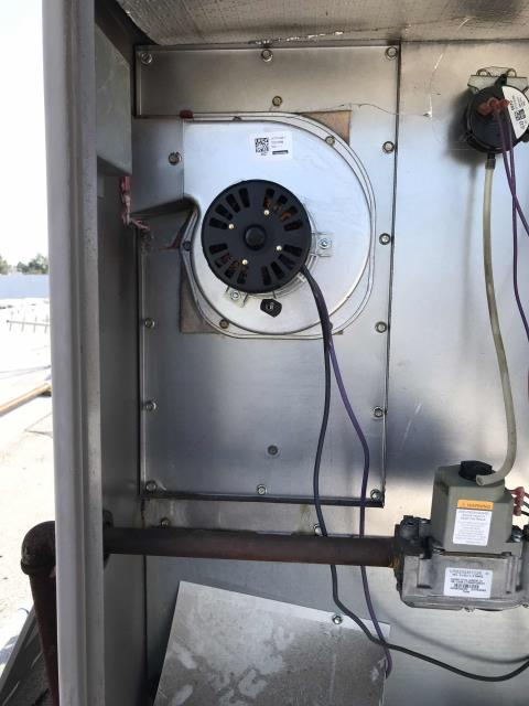 Sacramento, CA - Returned to a personal transportation business in Sacramento, California, to perform approved work. Our technician had to replace the inducer draft motor on a 5 ton York AC. Cycled and tested system after repairs, all in good shape and site warm again.