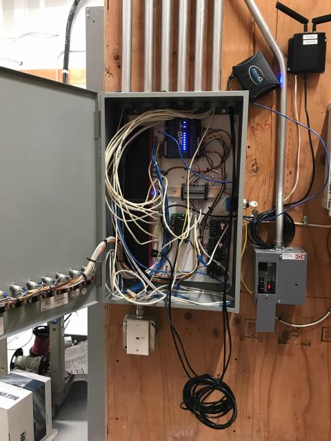 Irvine, CA - Commercial EMS installation quality check at a clothing retailer in Irvine, California. Confirmed HVAC unit startup on their  was complete and systems functional. Will need to return after lighting contractor completes their phase of project.