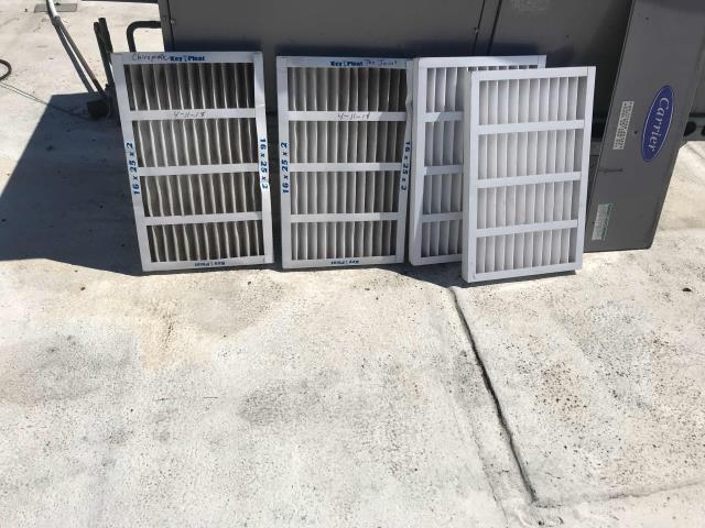 San Diego, CA - HVAC maintenance scheduled at a doctor's office in San Diego, CA. Basic summer service, filters changed, components inspected and belts adjusted. No issues to report.