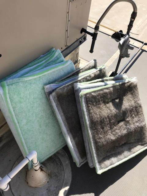 A home goods store in Antioch, California, was scheduled today for AC maintenance. Tech completed checklist, changing all filters and belts. All components inspected. No items to report, PM complete.