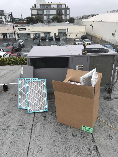 Dispatched our Marina del Rey area HVAC technician to perform preventative maintenance on their a/c units.  Technician replaced filters and inspected all electrical, coils, motors. Units are older but functional. Coils need to be washed. Will quote for chemical cleaning.