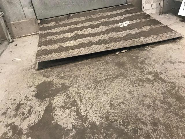 Bakersfield, CA - A pharmacy in Bakersfield, CA, reported a tripping hazard on their walk-in cooler. Our technician found the ramp had bent and was splitting apart at the corners. He was able to screw down the metal slightly to improve use, but ramp needs to be removed and replaced as the metal has warped. Advised manager of situation and hazard potential, quoting working ASAP to main office.