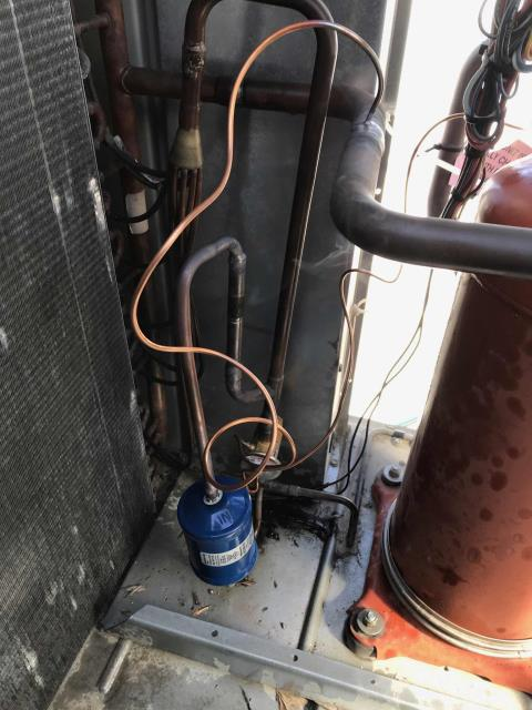 Santa Clarita, CA - Dispatched our Los Angeles county area technician to a property management office to make repairs on their Trane 5 ton air conditioner. The tech replaced the filter drier, expansion and check valves, and the TXV. Also performed a flush on the system before recharging. Ran and tested, unit operational again.