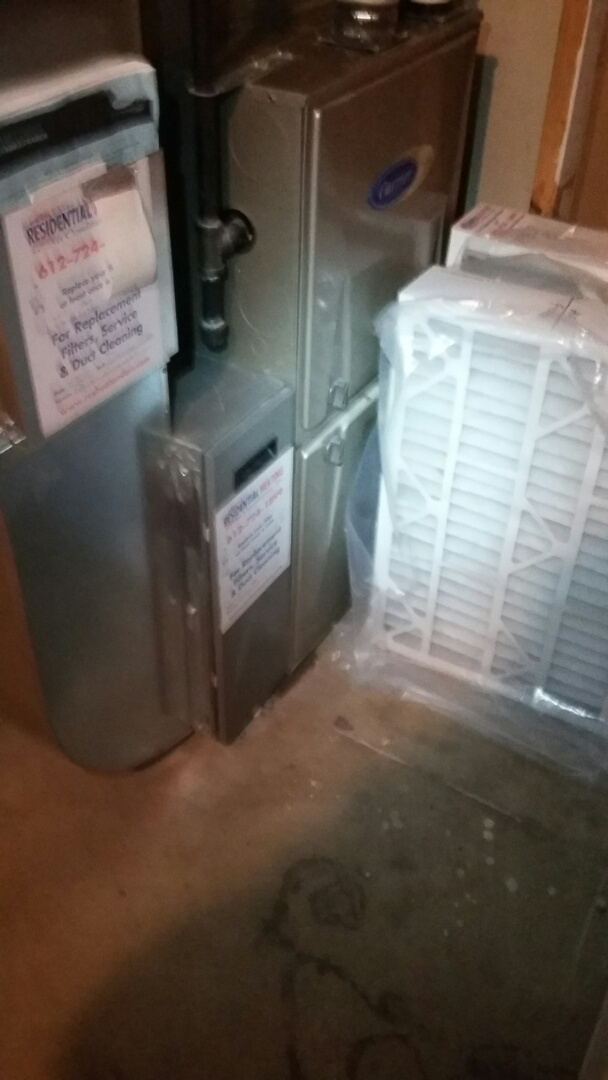 Blaine, MN - Working on a Carrier furnace and Air conditioner in Blane MN.