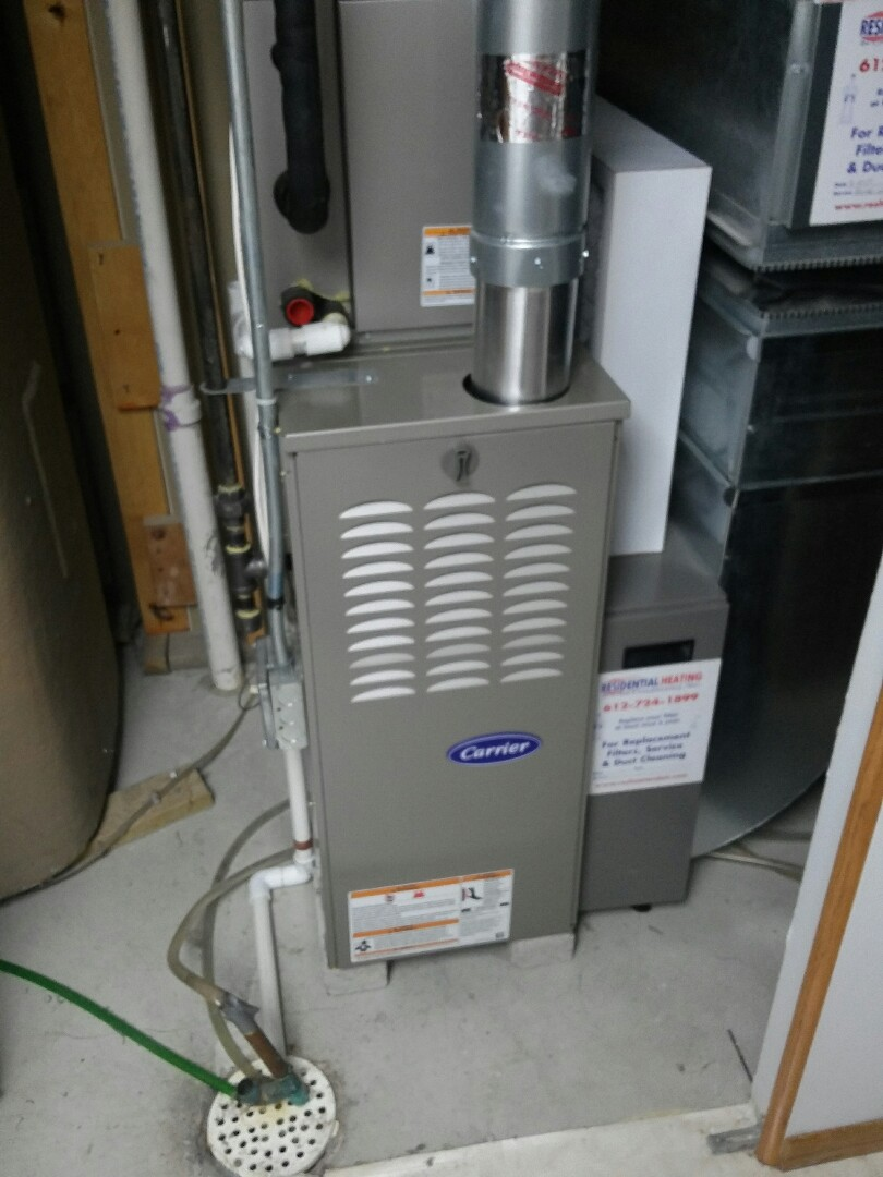 Andover, MN - Working on a Carrier furnace with a Carrier air conditioner clean and tune in Andover