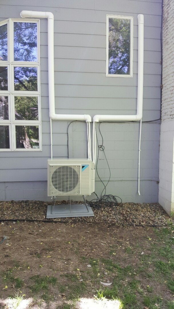 Burnsville, MN - New ductless system installed in burnsville