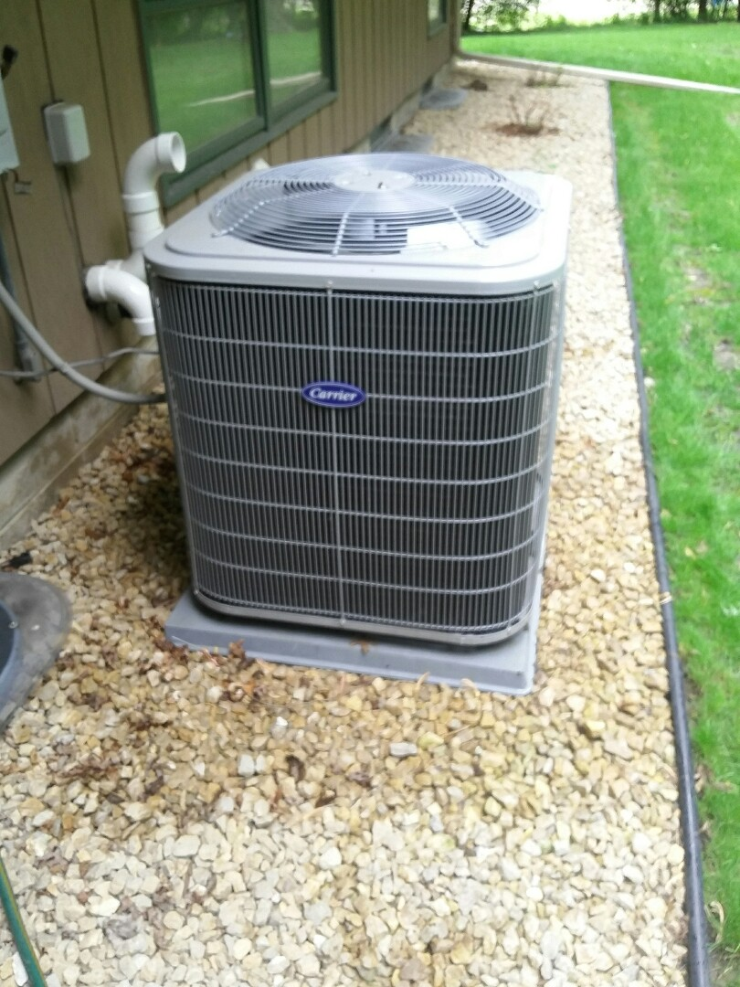 Saint Louis Park, MN - Just completed a clean and tune on a Carrier furnace with a Carrier air conditioner in St Louis Park