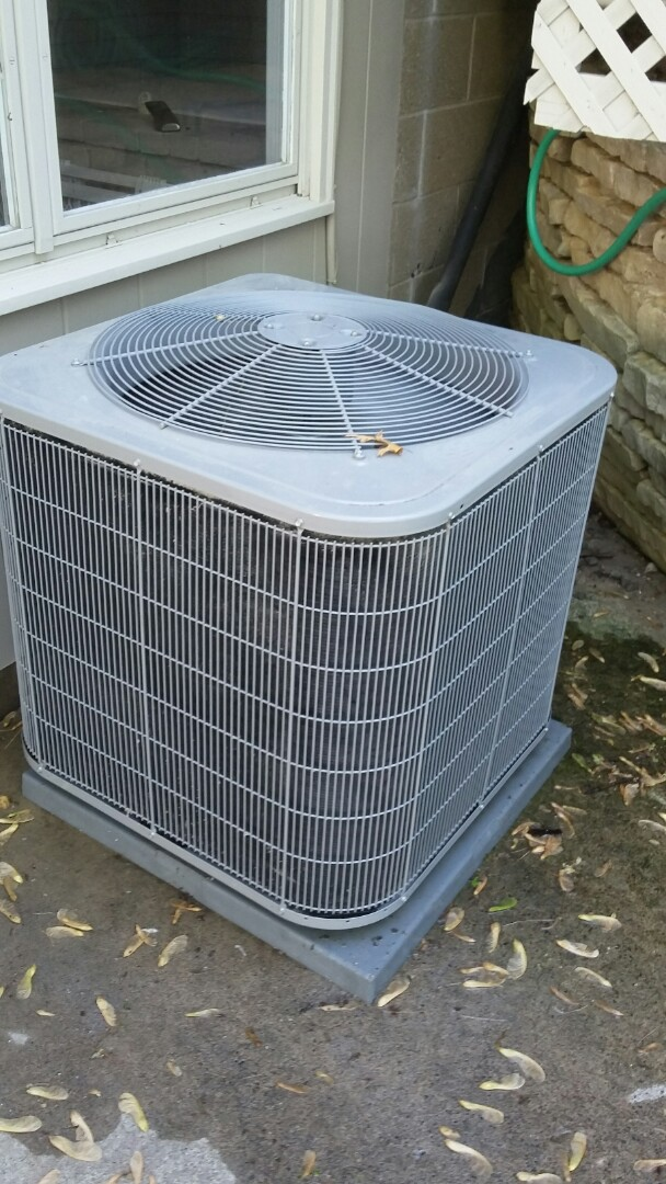 Edina, MN - Just completed a clean and tune on a Carrier air conditioner in Edina