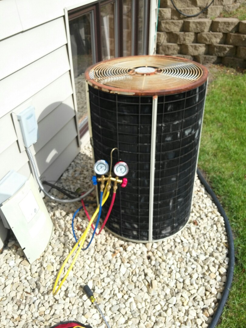 Coon Rapids, MN - working on a clean and tune on a comfortmaker furnace and Air conditioner in Coon Rapids