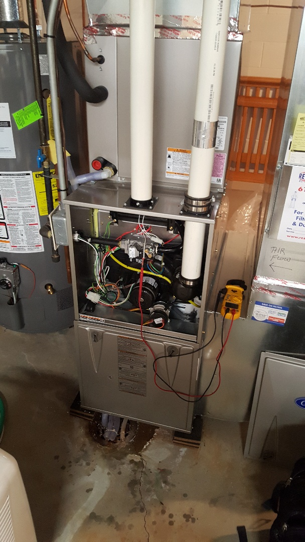 Excelsior, MN - I'm doing a furnace tune up on a Carrier in Shorewood Mn