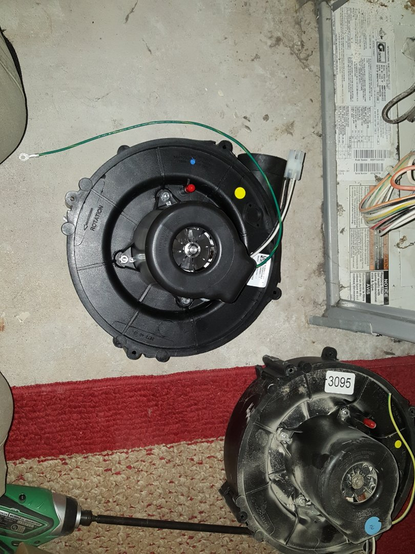 Minneapolis, MN - I'm installing an inducer and a blower motor on a Heil