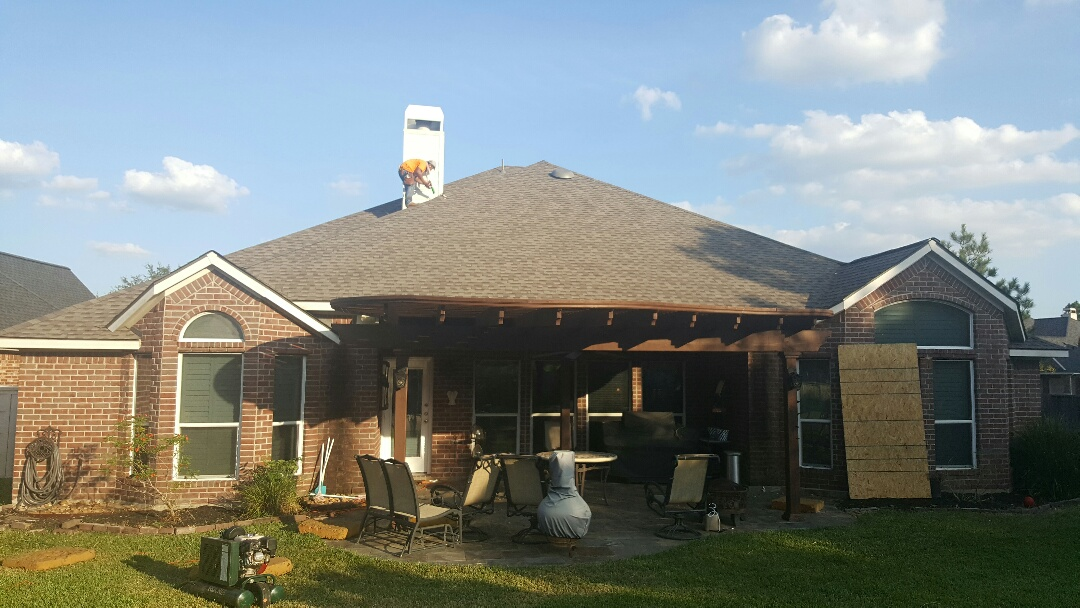 Spring, TX - GAF weathered wood roof replacement in Gleannloch Farms Spring Tx .  Finishing up another quality job.