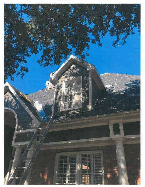 Sugar Land, TX - GAF Master Elite roof replacement in SugarLand Texas.  Felted in with synthetic underlayment, waiting for the GAF Charcoal HD shingles and new flashing.  Another storm damaged roof replaced by Elite Roofing Solutions INC.