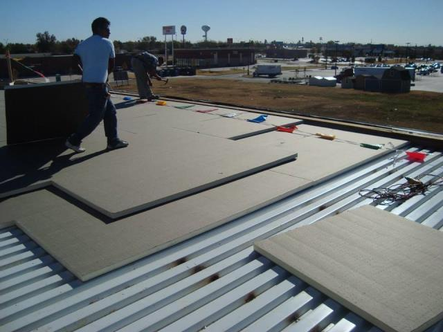 Houston, TX - Working on a new Flat Roof in Houston TX