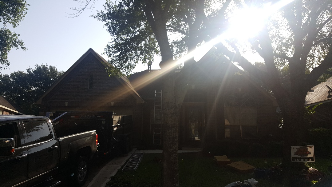 Sugar Land, TX - Long fight with the insurance company, but finally got them to pay for this storm damaged roof