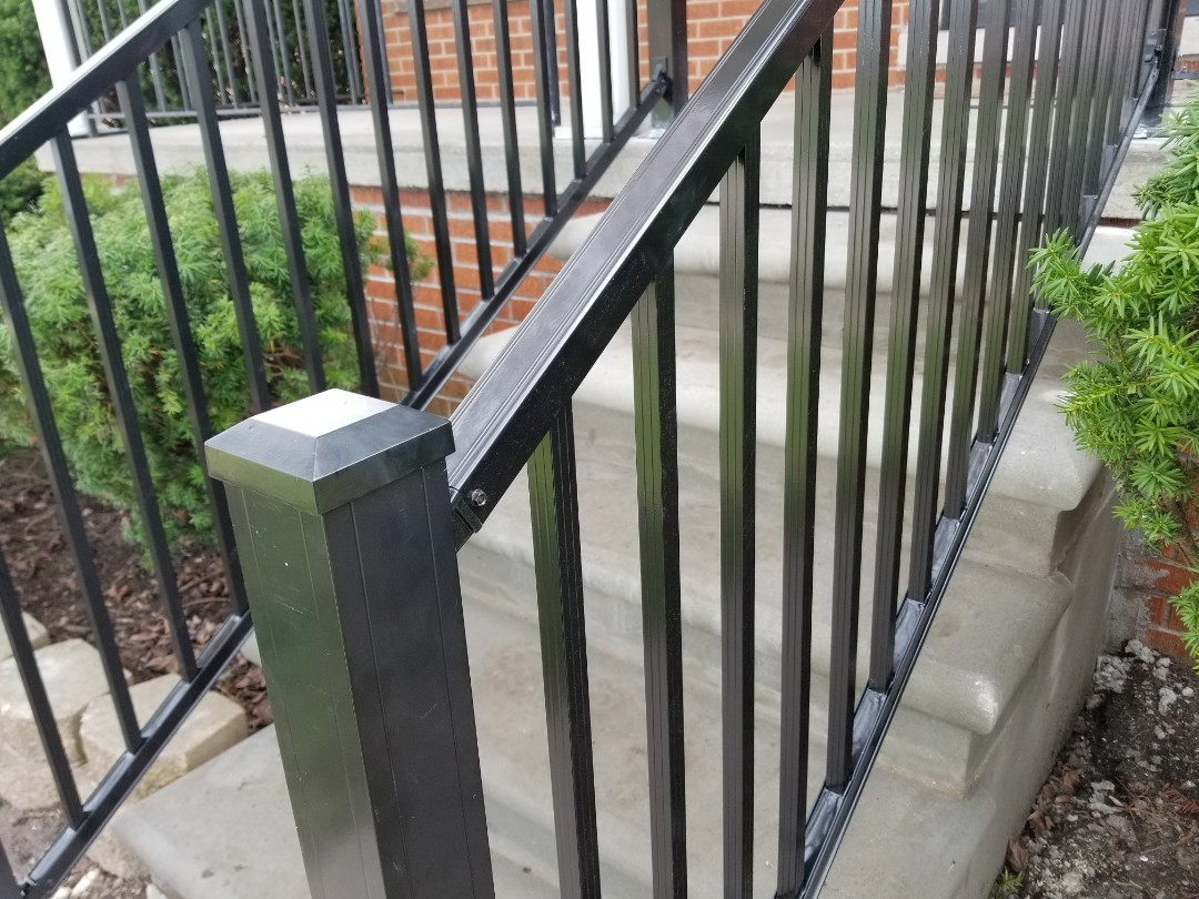Lincoln Park, MI - New heavy duty porch and step railings