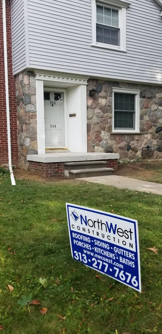 Dearborn, MI - New masonry front porch with concrete porch cap