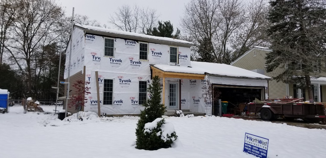 Farmington Hills, MI - Certainteed MONOGRAM Hearthstone siding in progress,  Farmington Hills burrrr.