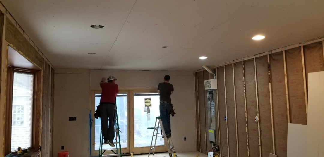 Dearborn, MI - Family room addition in Dearborn taking shape insulation finished, Drywall and finish coming along nicely.