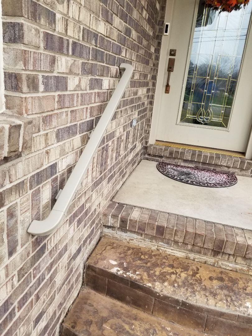 Wyandotte, MI - New heavy duty aluminum custom step railings look great and make navigating stairs safer.