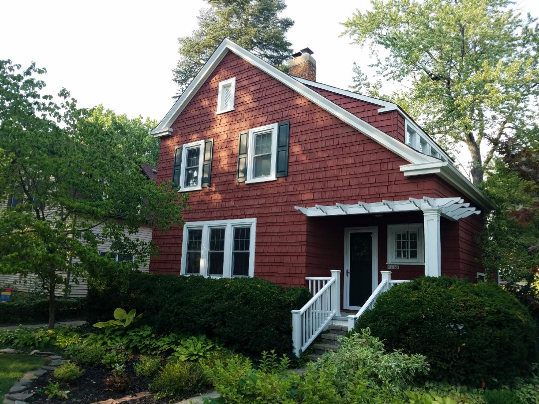 Dearborn, MI - Trex Transend porch and step railing with Afco 10 inch Acadian porch collumm on a Historic 1919 Ford Home, love the classic architecture.