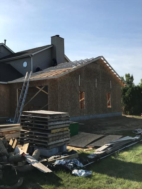 Delaware, OH - Work is coming right along with this large garage addition.  Framing is nearly complete and soon our client will be able to park ALL the things in their new, extra deep third bay of their garage.