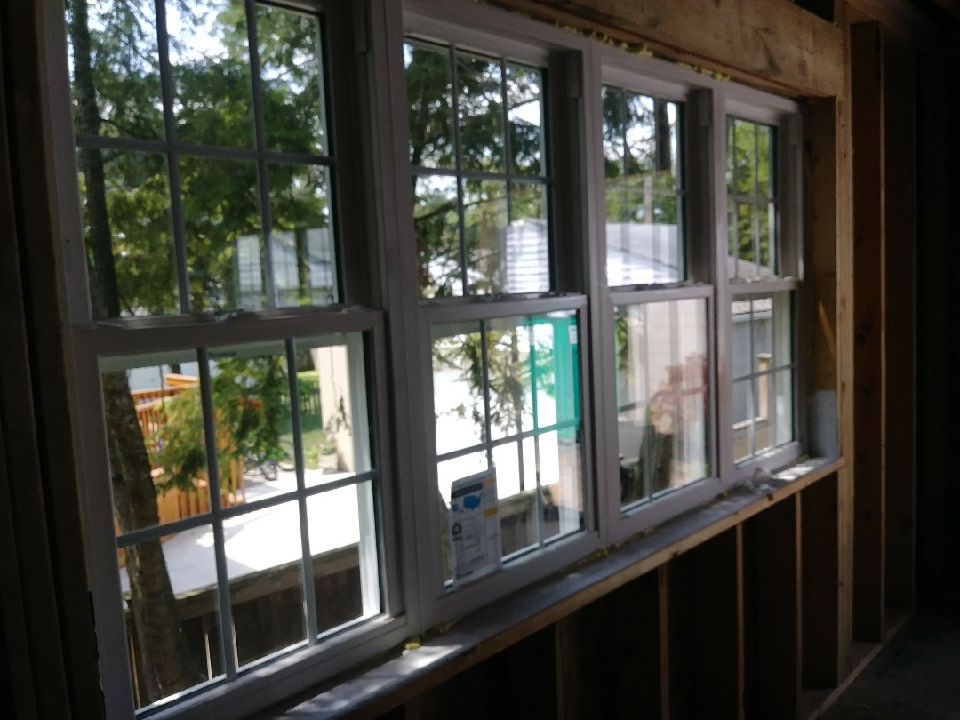Columbus, OH - Installing some custom vinyl windows in the addition